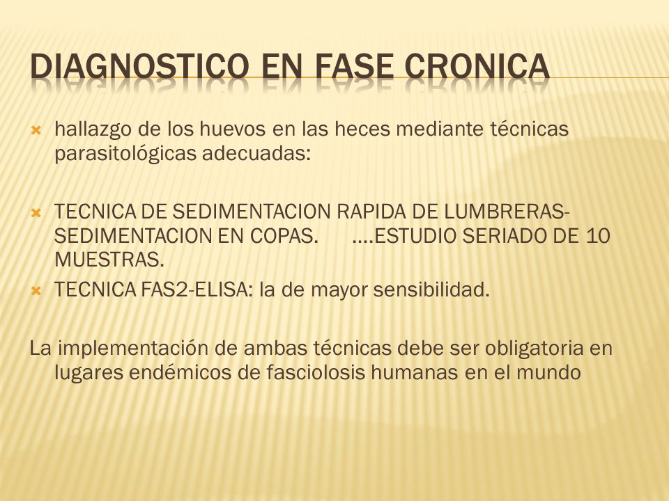 DIAGNOSTICO EN FASE CRONICA