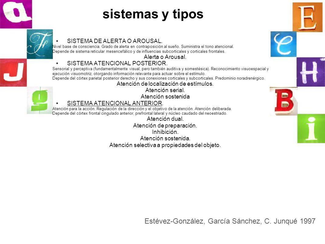 sistemas y tipos Estévez-González, García Sánchez, C. Junqué 1997