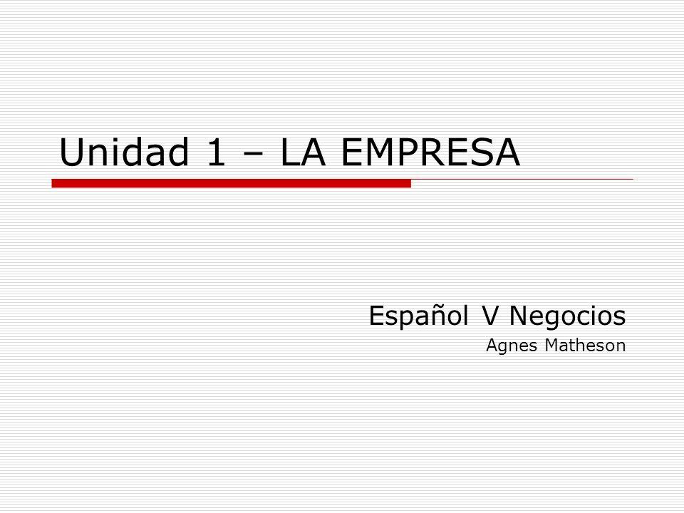 Español V Negocios Agnes Matheson