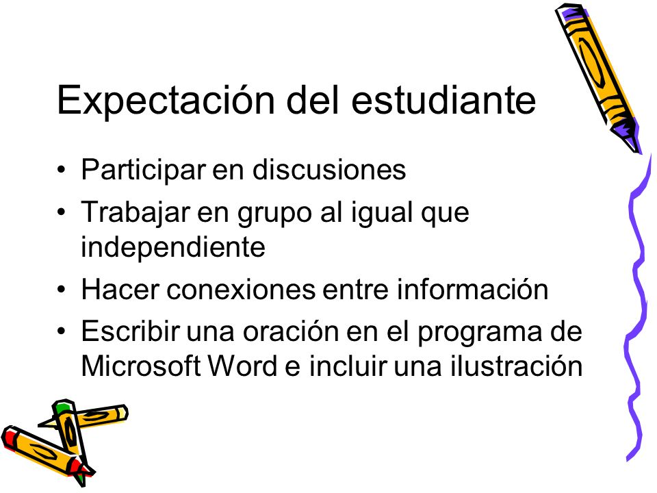 Expectación del estudiante