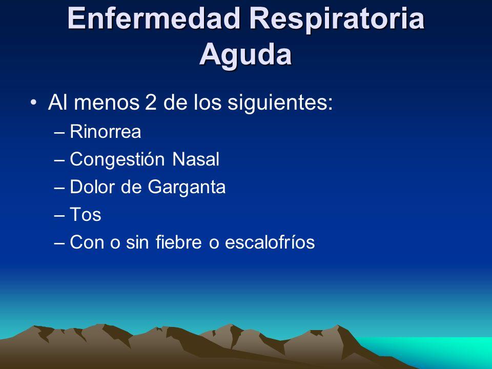 Enfermedad Respiratoria Aguda