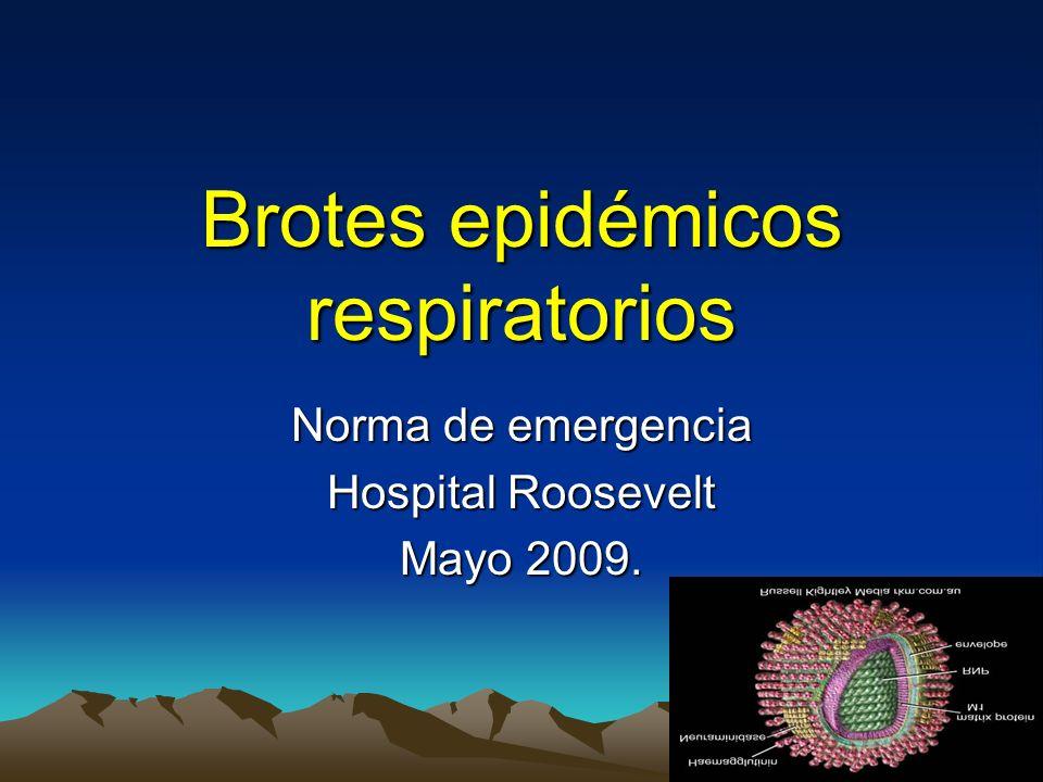 Brotes epidémicos respiratorios