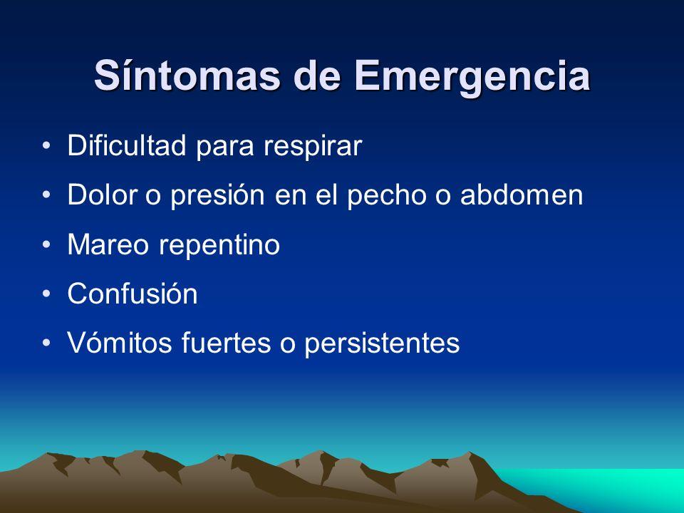 Síntomas de Emergencia