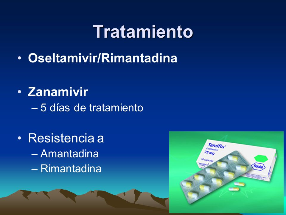 Tratamiento Oseltamivir/Rimantadina Zanamivir Resistencia a