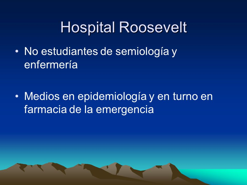 Hospital Roosevelt No estudiantes de semiología y enfermería