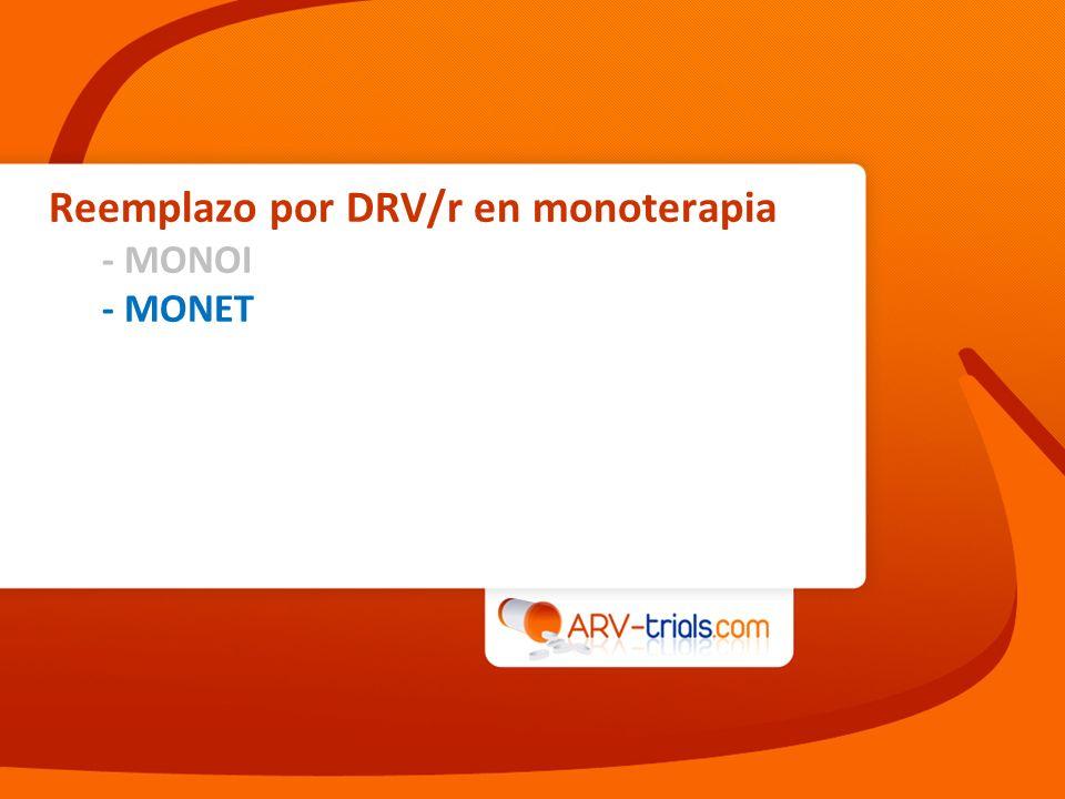 Reemplazo por DRV/r en monoterapia
