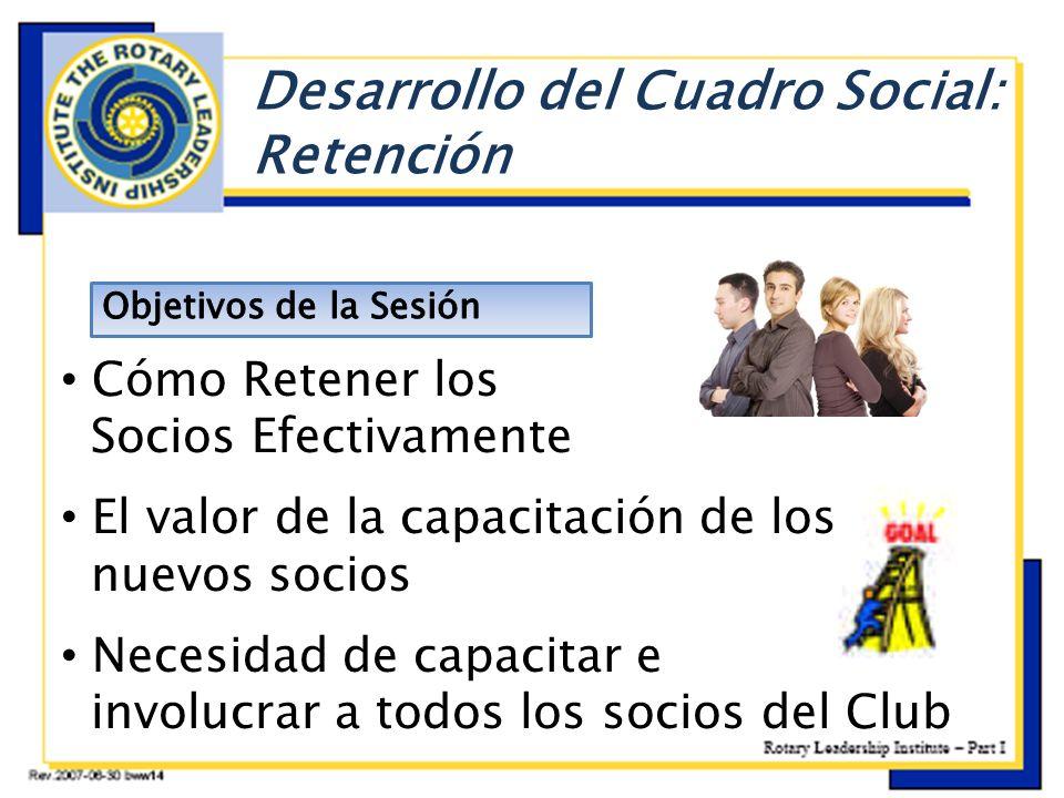 E Desarrollo del Cuadro Social: Retención