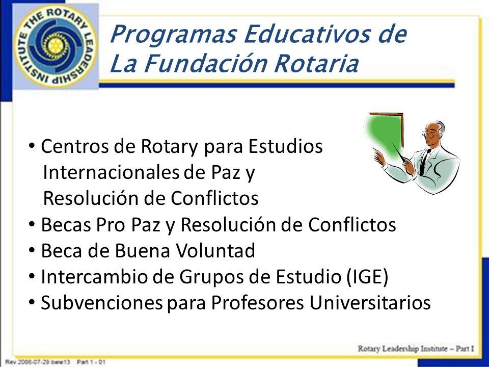 Programas Educativos de La Fundación Rotaria