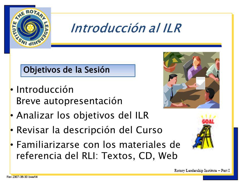 Introducción al ILR Introducción Breve autopresentación