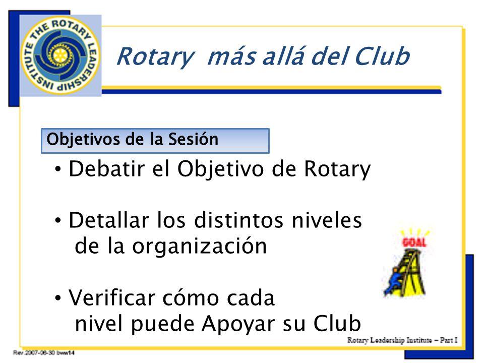 b Rotary más allá del Club Debatir el Objetivo de Rotary