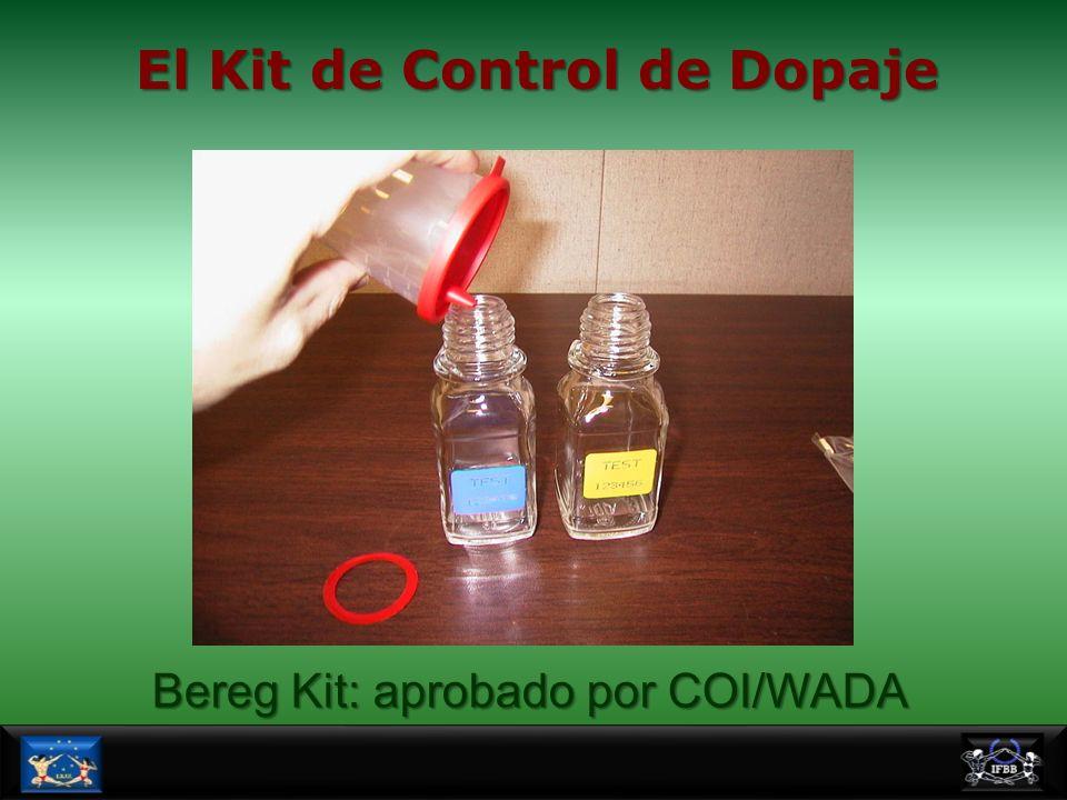El Kit de Control de Dopaje