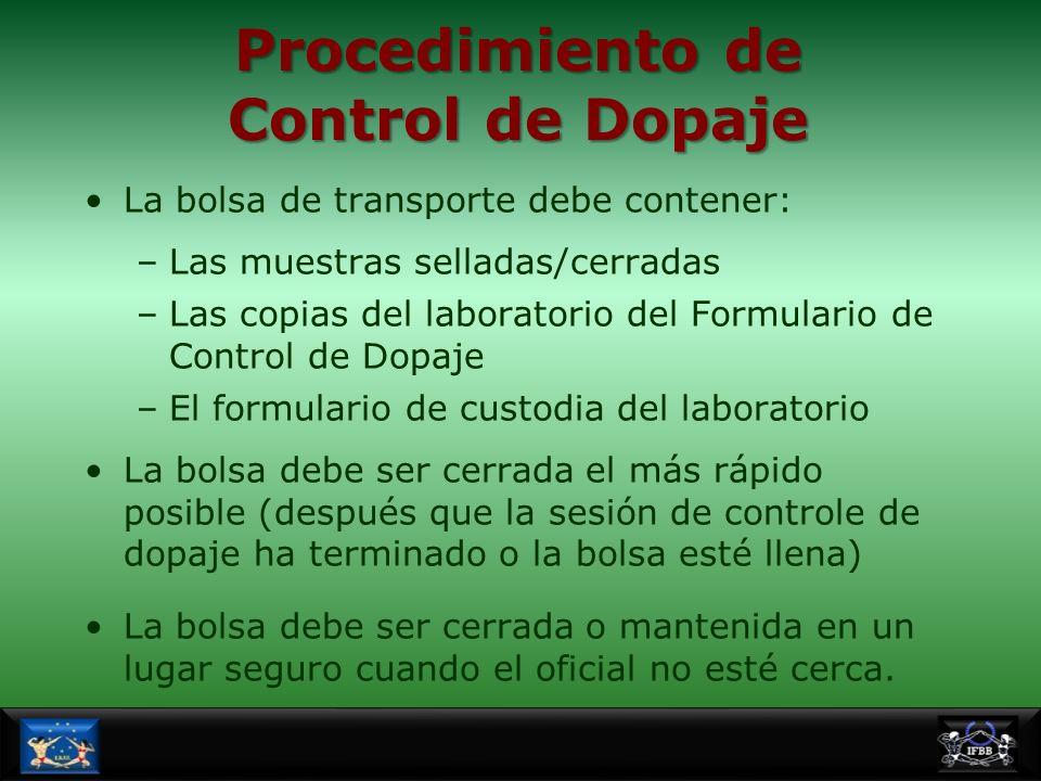Procedimiento de Control de Dopaje