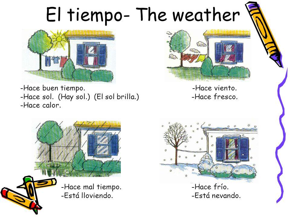 El tiempo- The weather -Hace buen tiempo.