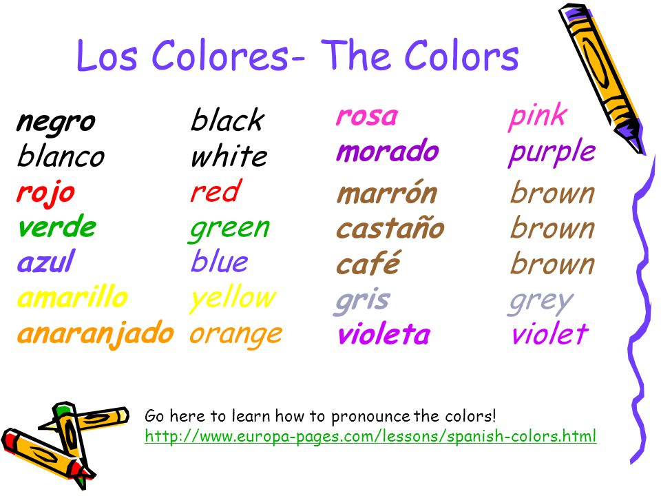 Los Colores- The Colors