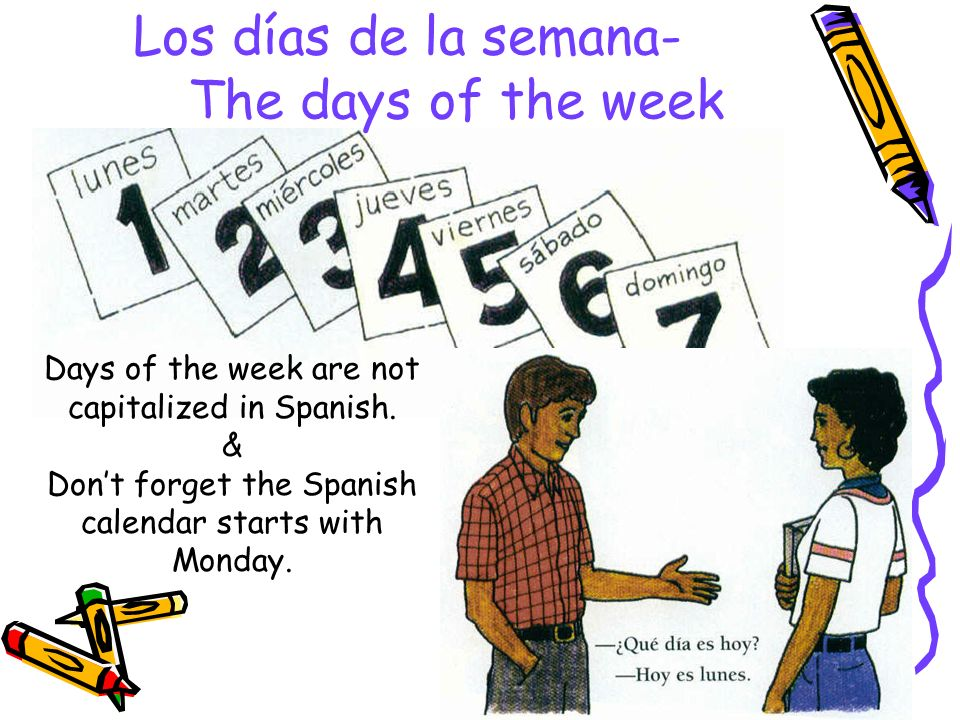 Los días de la semana- The days of the week