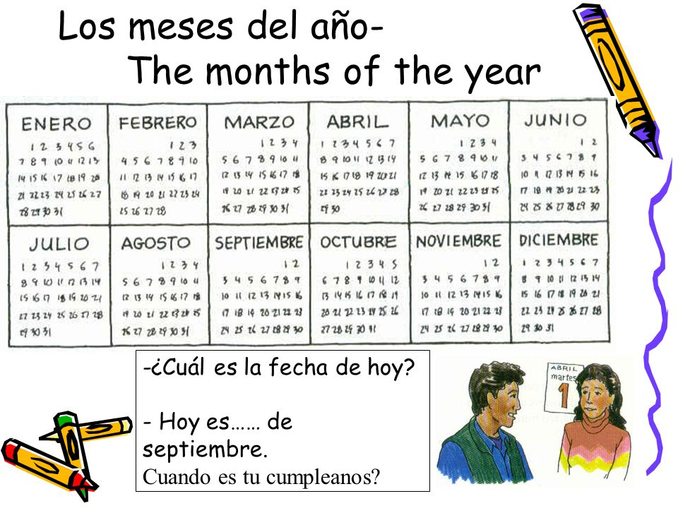 Los meses del año- The months of the year
