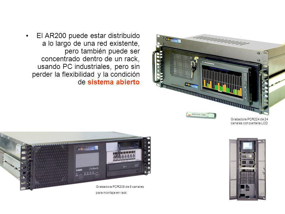El AR200 puede estar distribuido a lo largo de una red existente, pero también puede ser concentrado dentro de un rack, usando PC industriales, pero sin perder la flexibilidad y la condición de sistema abierto