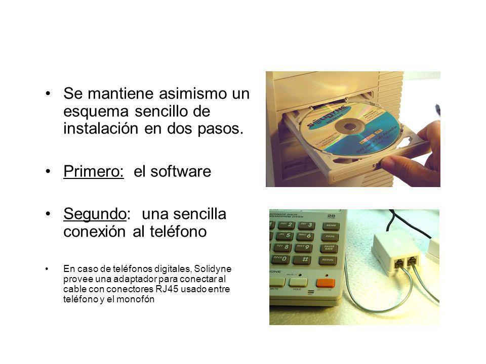 Se mantiene asimismo un esquema sencillo de instalación en dos pasos.