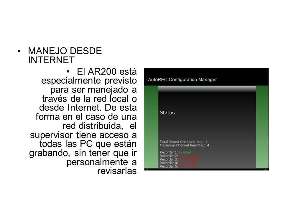 MANEJO DESDE INTERNET