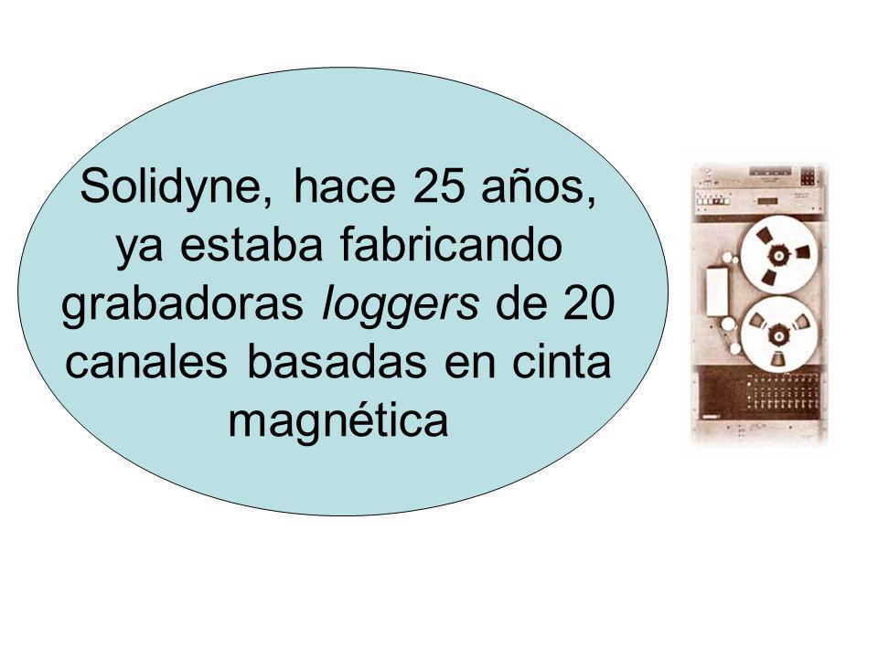 Solidyne, hace 25 años, ya estaba fabricando grabadoras loggers de 20 canales basadas en cinta magnética