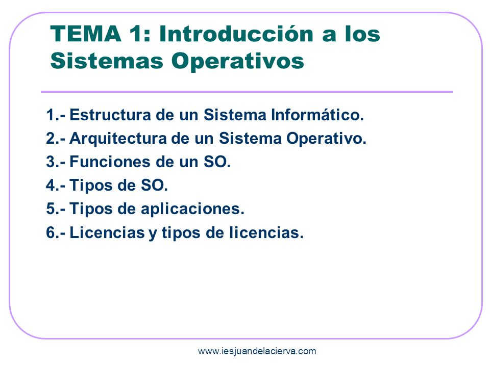 TEMA 1: Introducción a los Sistemas Operativos