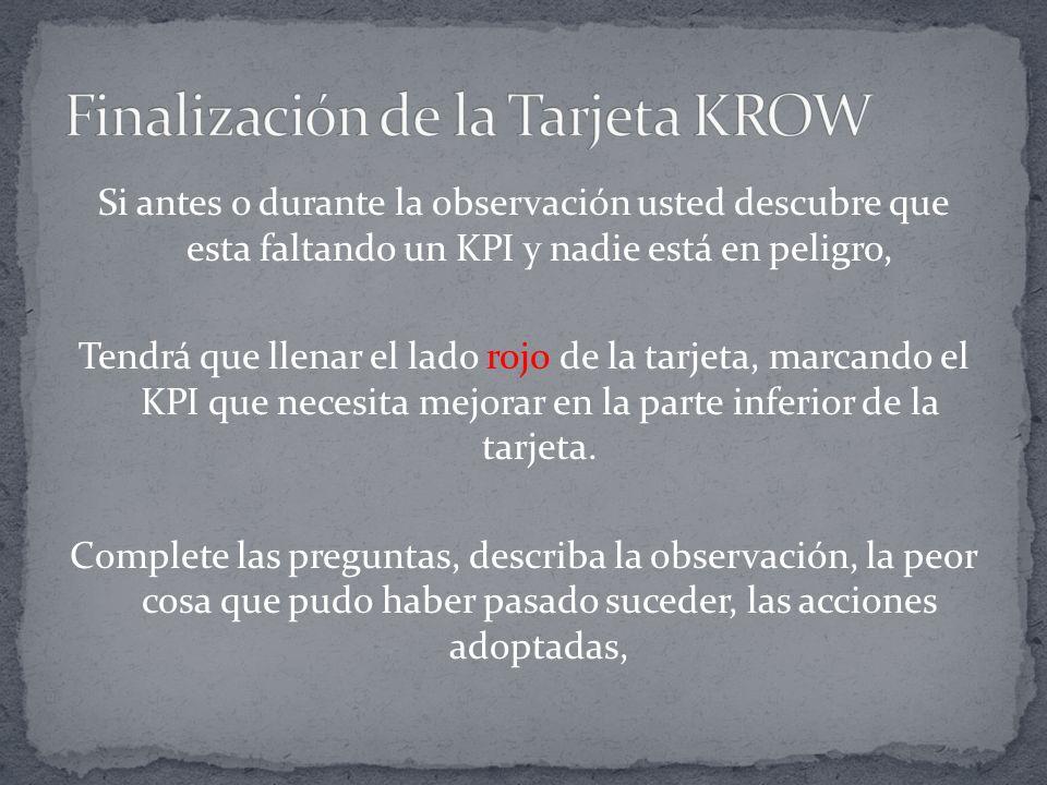 Finalización de la Tarjeta KROW