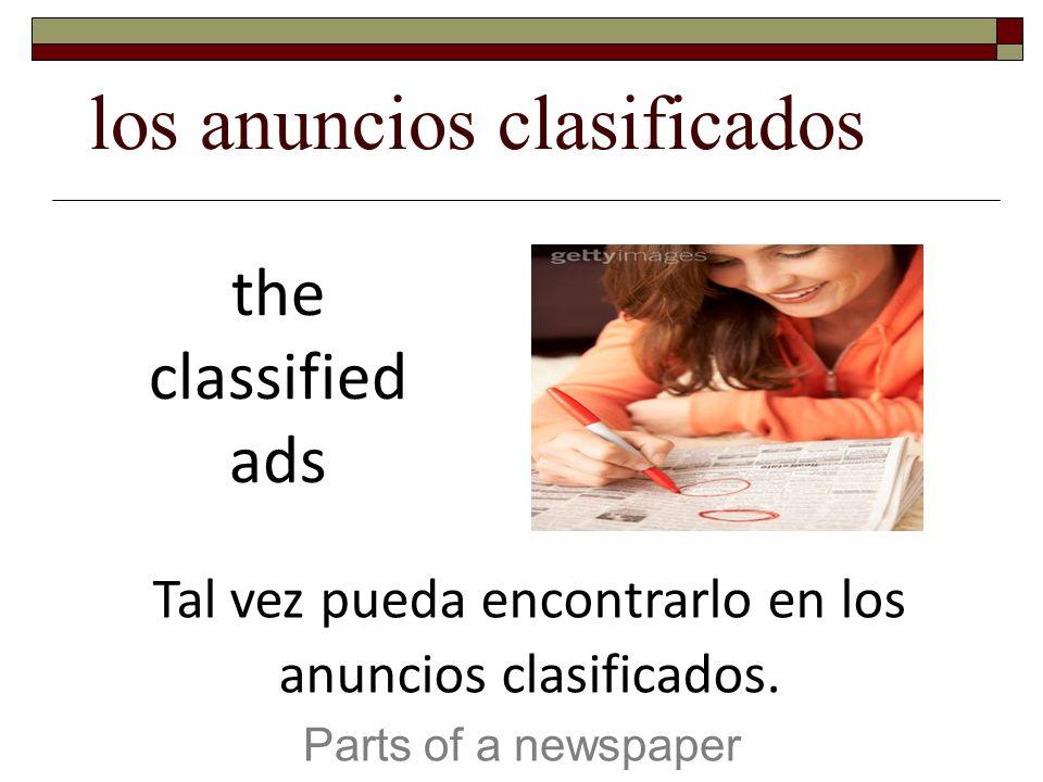 los anuncios clasificados