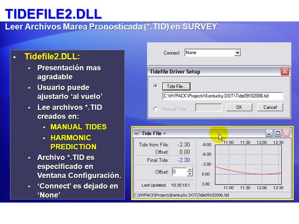 TIDEFILE2.DLL Leer Archivos Marea Pronosticada (*.TID) en SURVEY