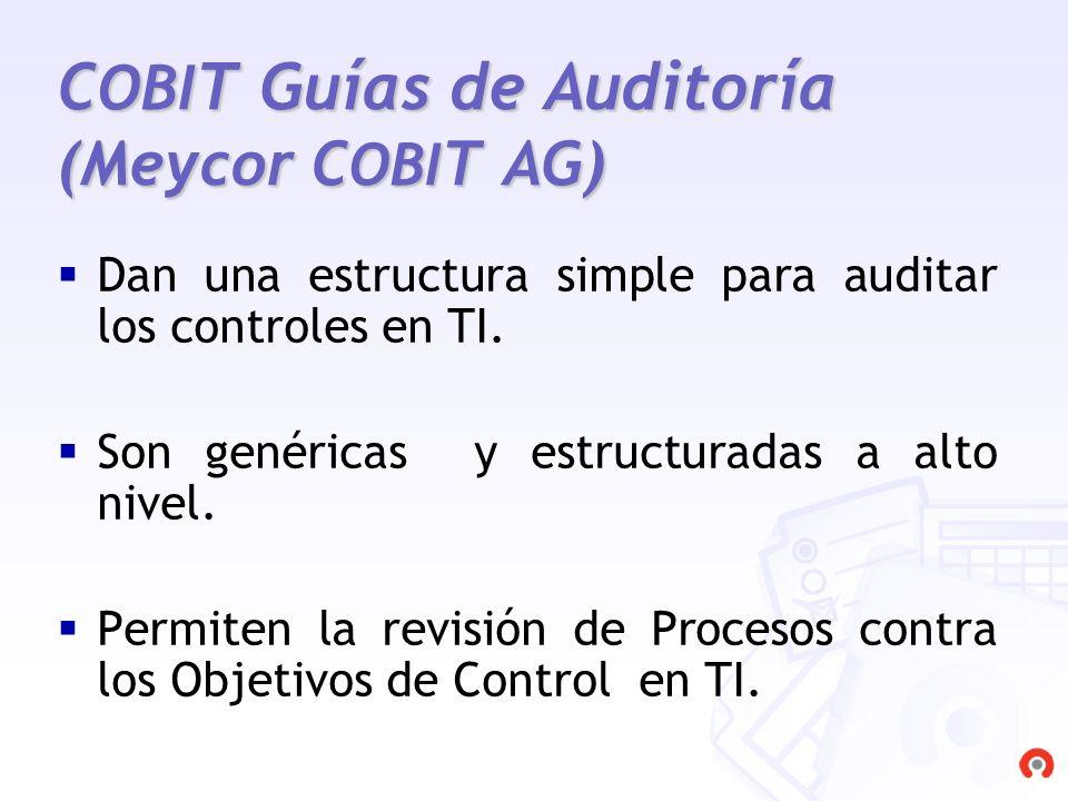COBIT Guías de Auditoría (Meycor COBIT AG)