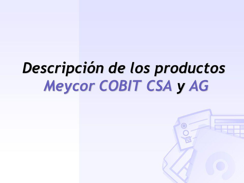 Descripción de los productos Meycor COBIT CSA y AG
