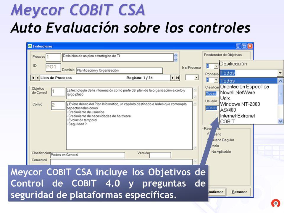 Meycor COBIT CSA Auto Evaluación sobre los controles