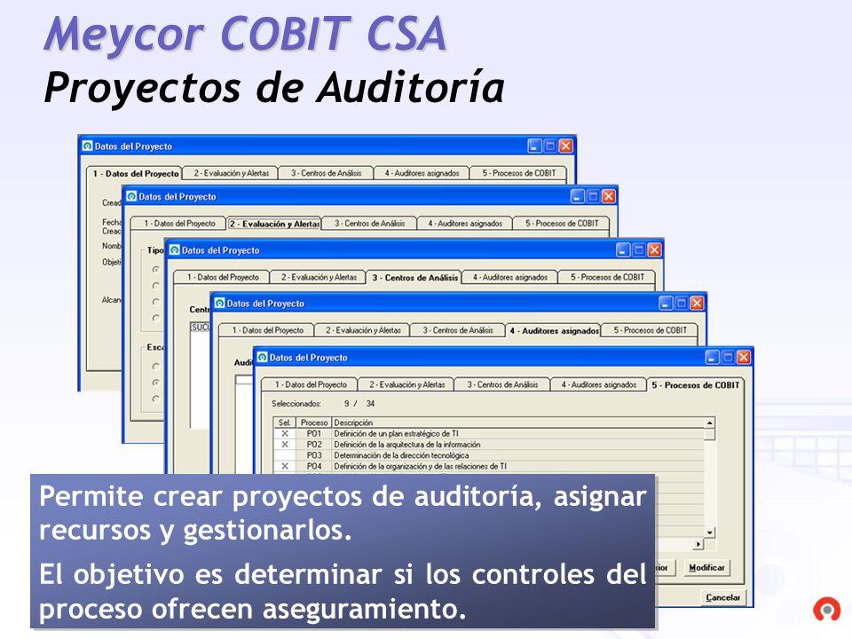 Meycor COBIT CSA Proyectos de Auditoría