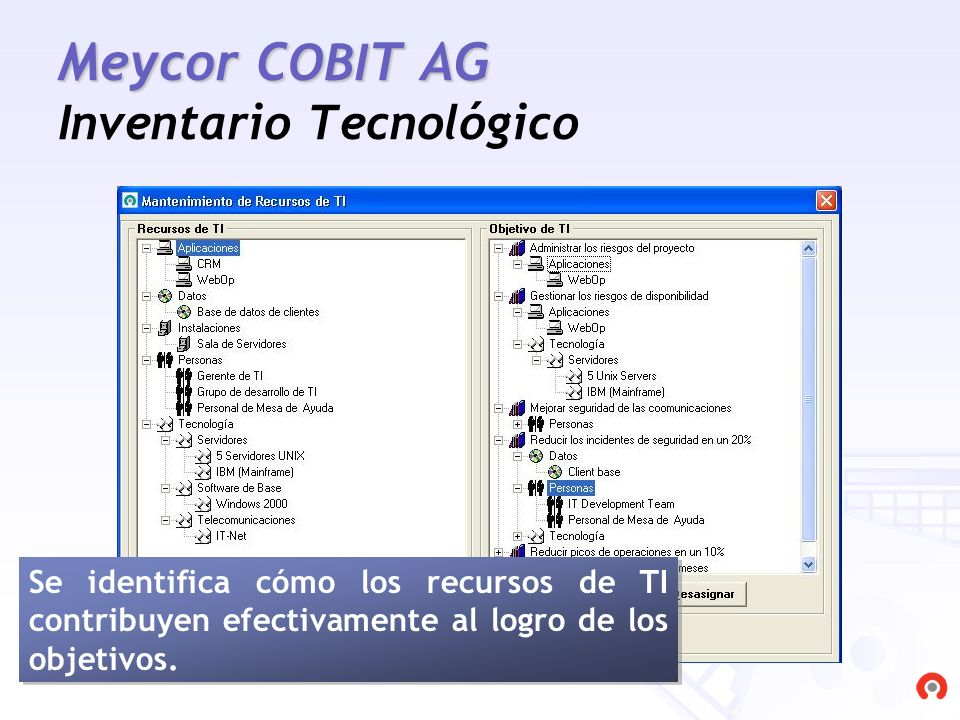Meycor COBIT AG Inventario Tecnológico