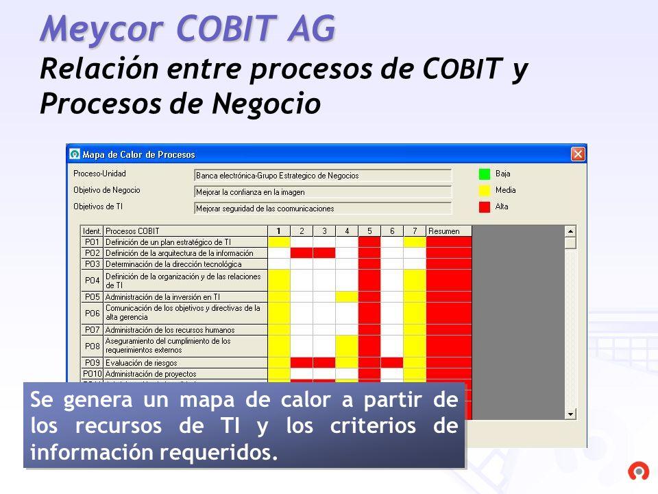 Meycor COBIT AG Relación entre procesos de COBIT y Procesos de Negocio