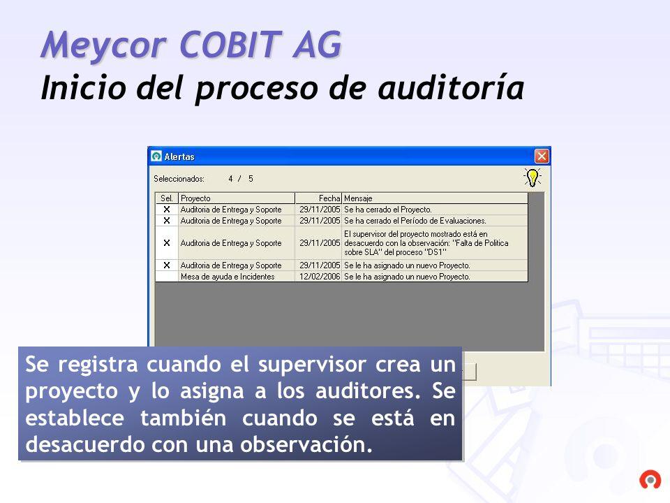 Meycor COBIT AG Inicio del proceso de auditoría