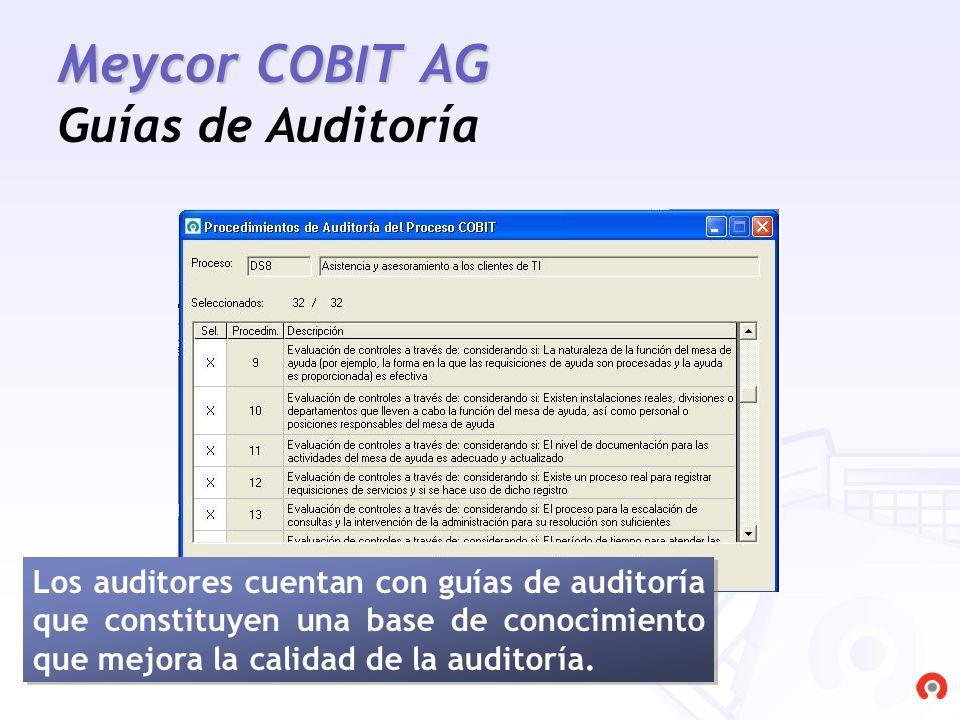 Meycor COBIT AG Guías de Auditoría
