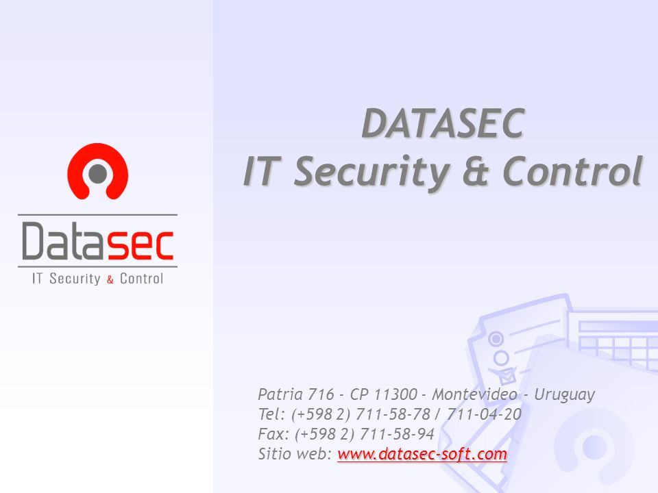 DATASEC IT Security & Control