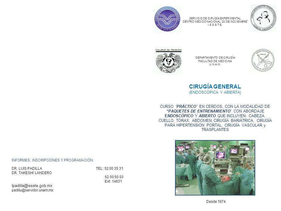 CIRUGÍA GENERAL (ENDOSCÓPICA Y ABIERTA)