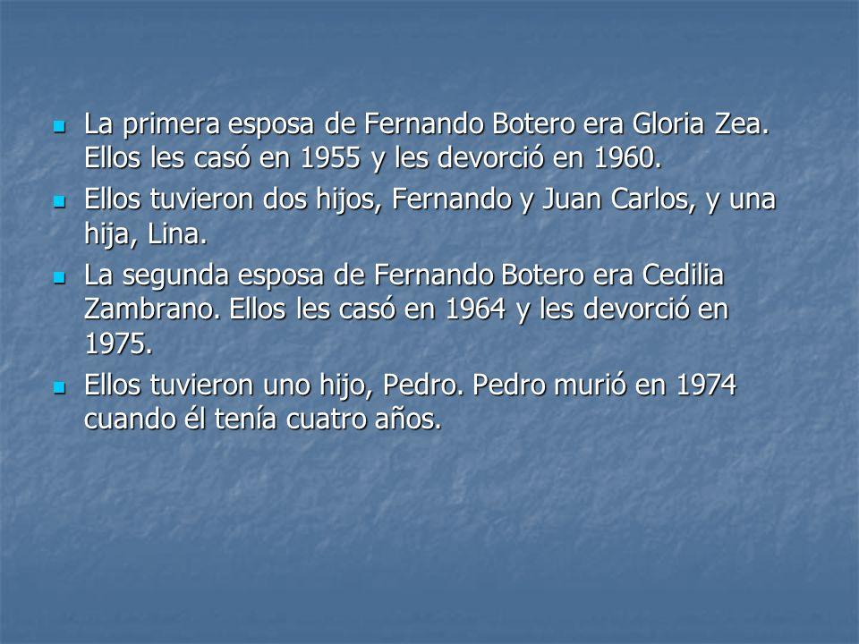 La primera esposa de Fernando Botero era Gloria Zea