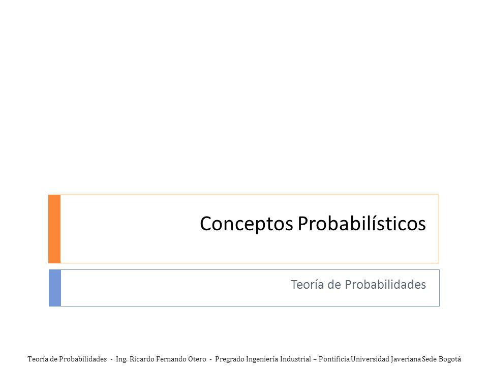 Conceptos Probabilísticos