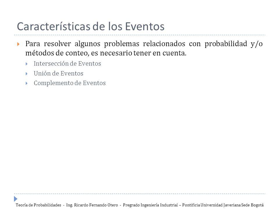 Características de los Eventos