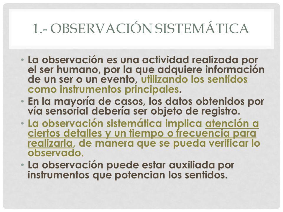 1.- observación sistemática