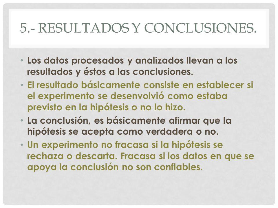 5.- resultados y conclusiones.