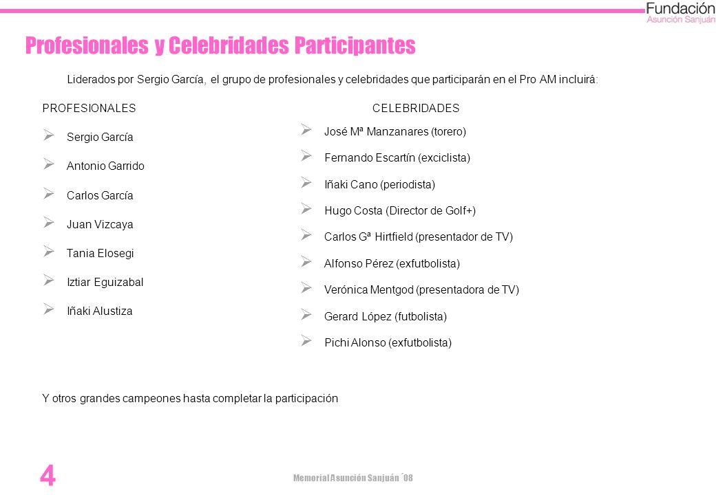 Profesionales y Celebridades Participantes