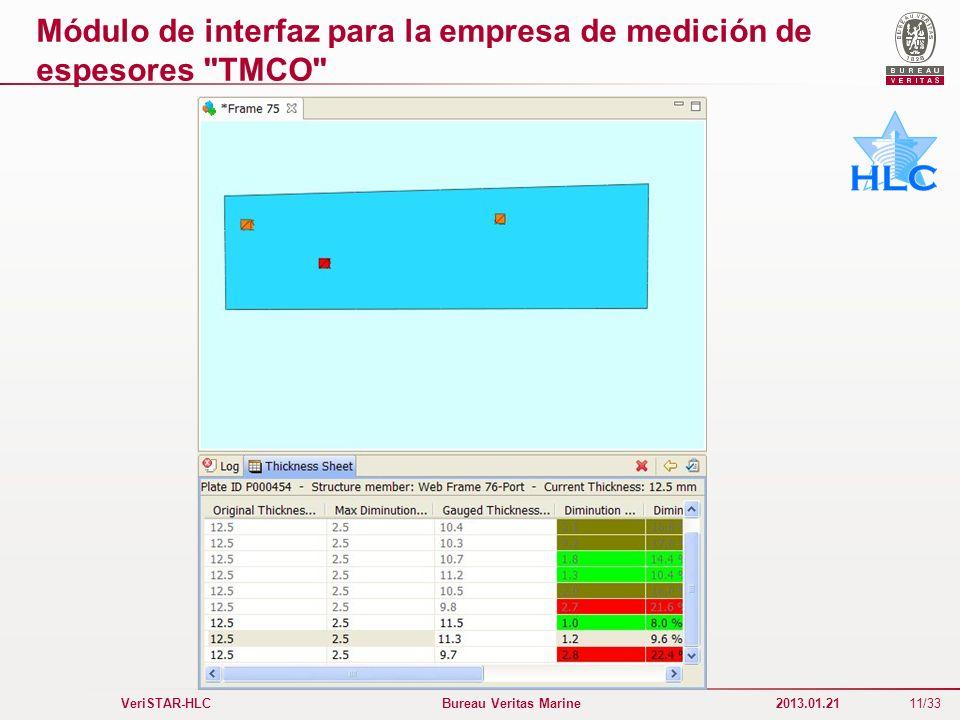 Módulo de interfaz para la empresa de medición de espesores TMCO