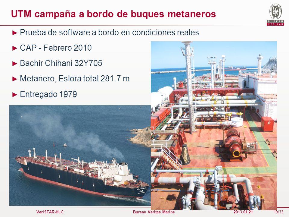 UTM campaña a bordo de buques metaneros