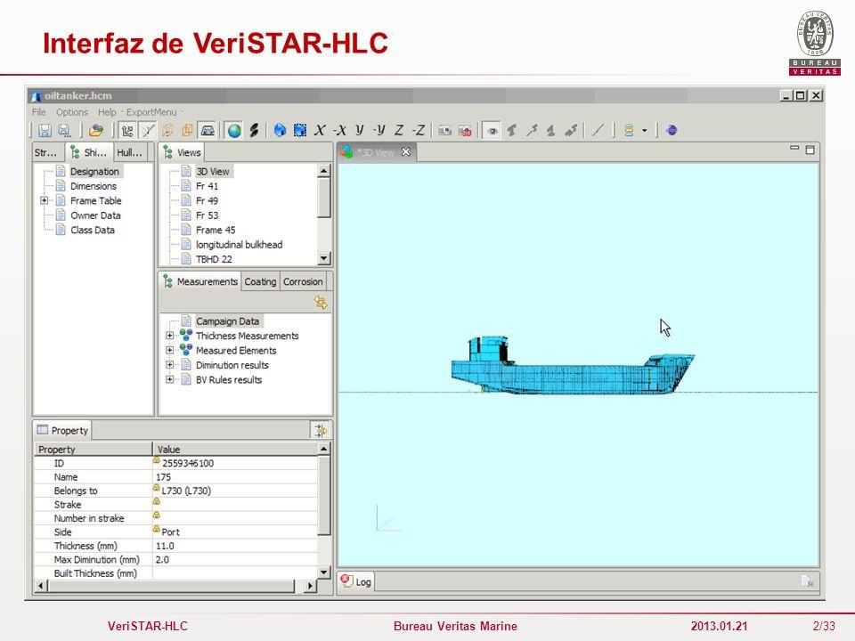 Interfaz de VeriSTAR-HLC