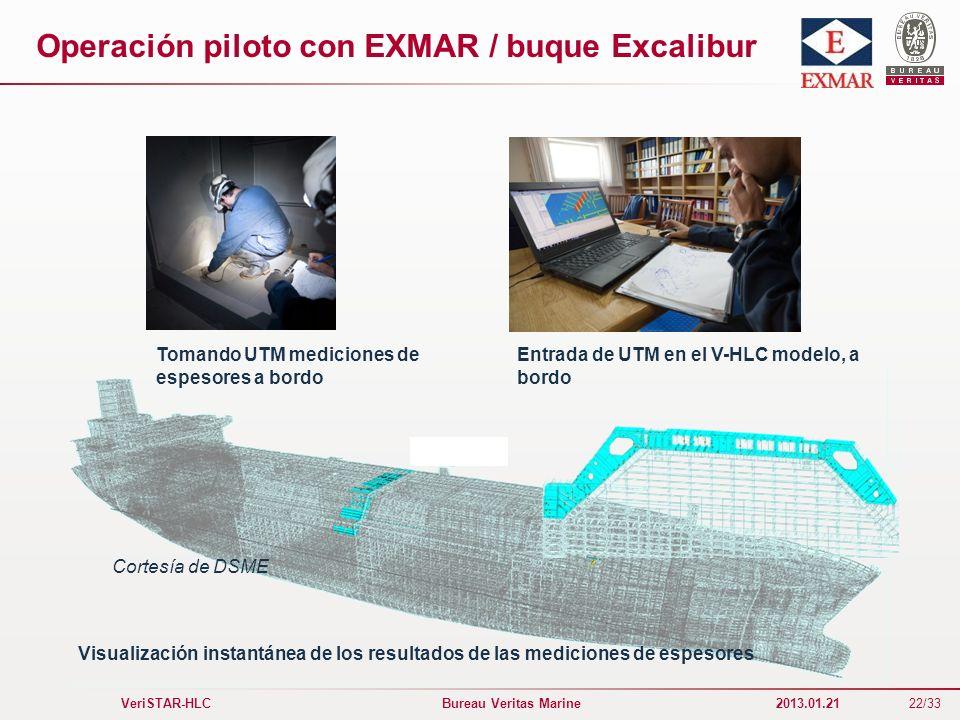 Operación piloto con EXMAR / buque Excalibur
