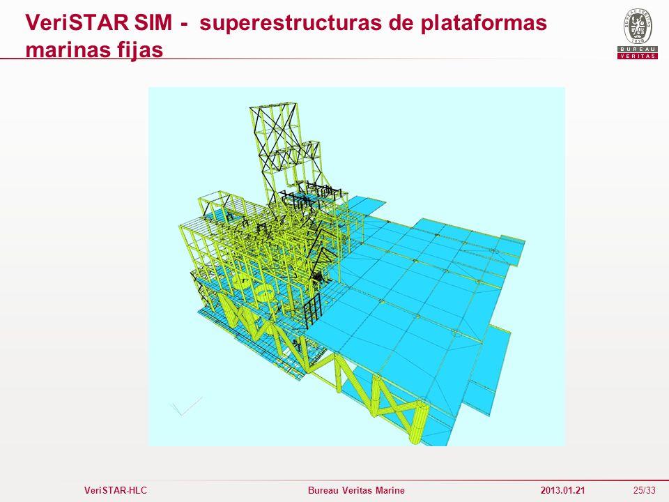 VeriSTAR SIM - superestructuras de plataformas marinas fijas