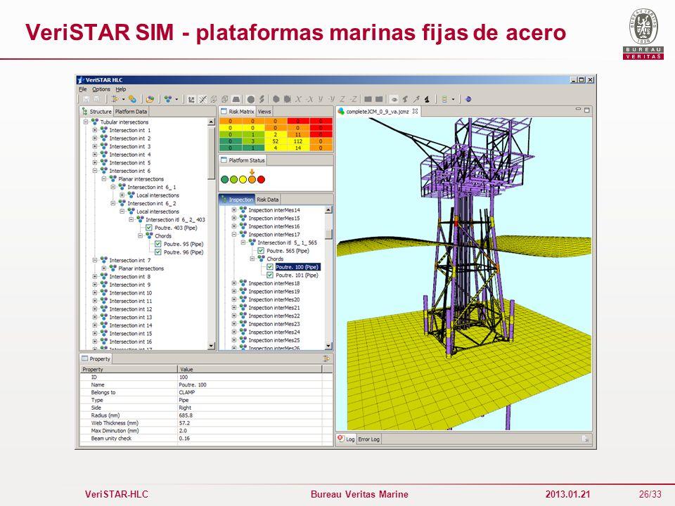 VeriSTAR SIM - plataformas marinas fijas de acero